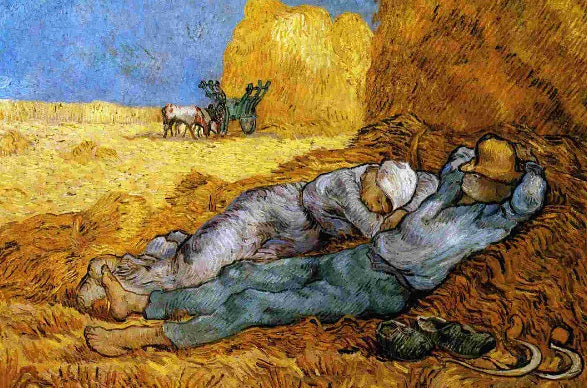 The Siesta by Vincent Van Gogh (50 Pieces) Mini Wooden Jigsaw Puzzle