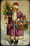 Santa's Basket Of Toys (Victorian Santa 5) (50 Pieces) Mini Wooden Jigsaw Puzzle