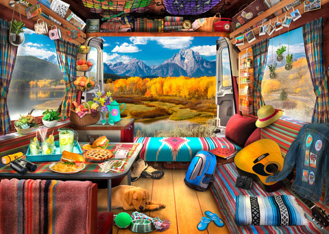 Van Life - Grand Tetons (474 Pieces) Wooden Jigsaw Puzzle