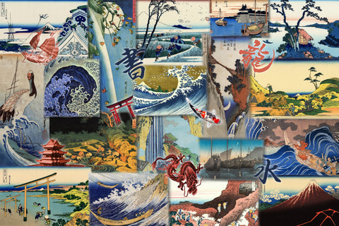 Views of Japan (400 Piece Wooden Jigsaw Puzzle)