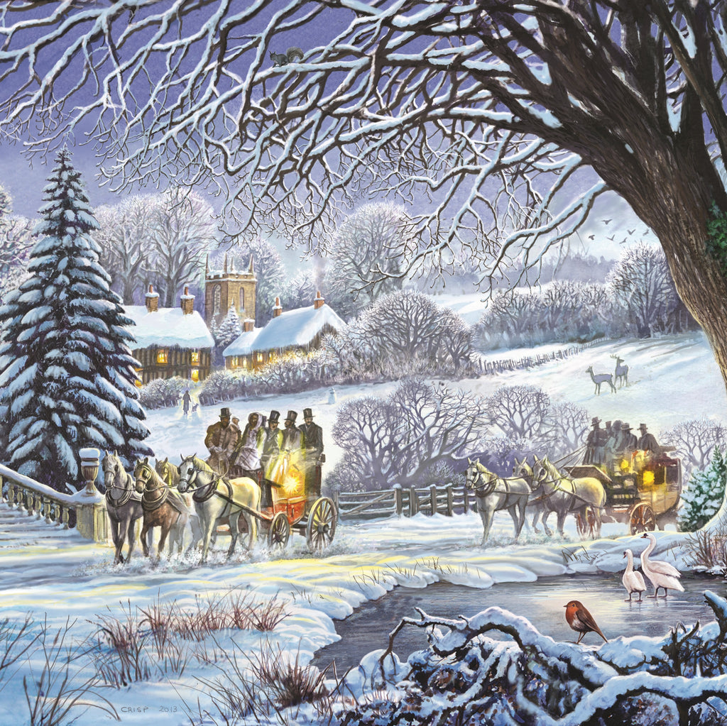 Winter Carriages - 200 Piece Wooden Jigsaw Puzzle
