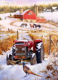 Winter on the Farm (358 Piece Wooden Jigsaw Puzzle)