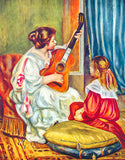 Woman with a Guitar, 1897 by Pierre-Auguste Renoir (349 Piece Wooden Jigsaw Puzzle)