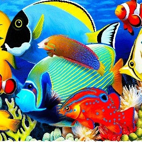 Fish Alive (144 Piece Wooden Jigsaw Puzzle)