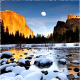 Winter in Yosemite - 240 Piece Wooden Jigsaw Puzzle