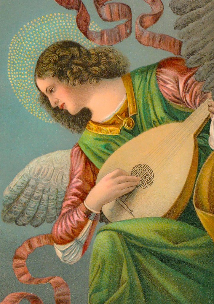 An Angel Playing the Lute - 242 Piece Wooden Jigsaw Puzzle