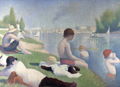 Bathers at Asnières by Georges Seurat (358 Piece Wooden Jigsaw Puzzle)