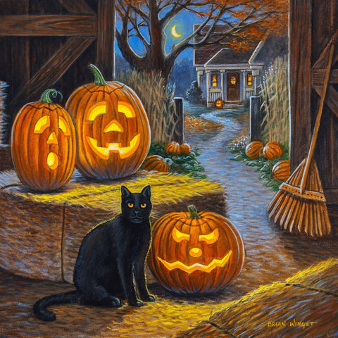 Cat O'Lantern (47 Piece Mini Halloween Wooden Jigsaw Puzzle)