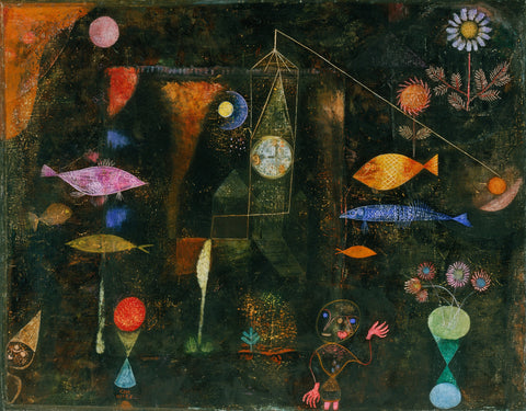 Fish Magic by Paul Klee (450 Piece Wooden Jigsaw Puzzle)