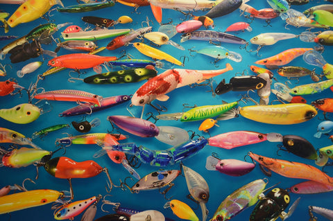 Fishing Lures (51 Piece Mini Wooden Jigsaw Puzzle)
