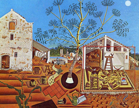The Farm by Joan Miró (351 Piece Wooden Jigsaw Puzzle)