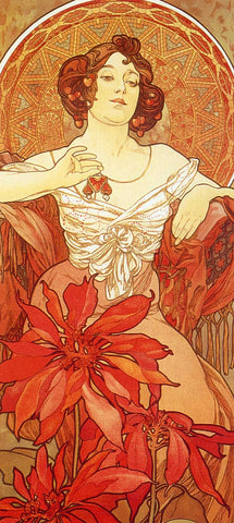 Ruby by Alphonse Mucha (122 Piece Wooden Jigsaw Puzzle)