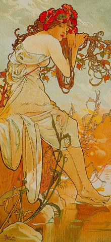 Summer by Alphonse Mucha (122 Piece Wooden Jigsaw Puzzle)