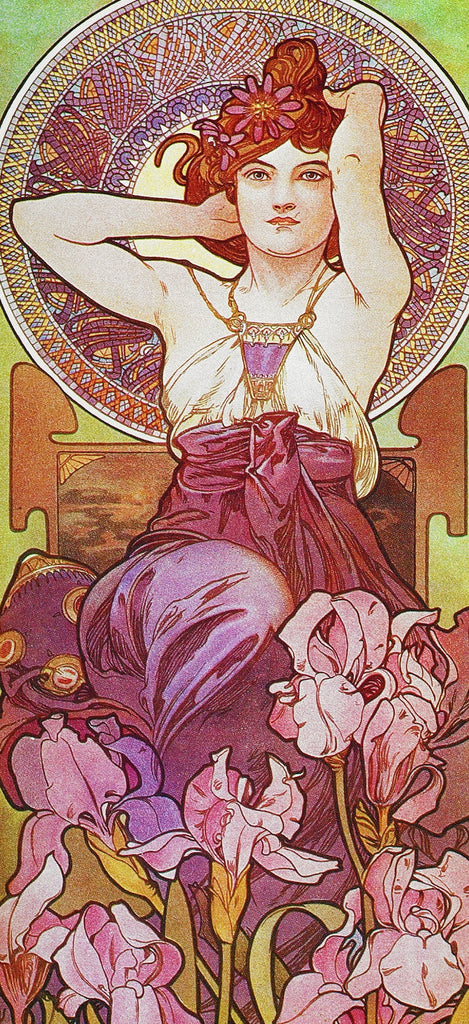 Amethyst by Alphonse Mucha (122 Piece Wooden Jigsaw Puzzle)