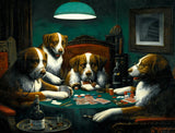 Poker Game, 1894 (426 Piece Wooden Jigsaw Puzzle)