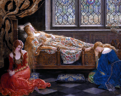 The Sleeping Beauty by John Collier (437 Piece Wooden Jigsaw Puzzle)