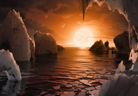 Exoplanet Trappist 1-F by JPL and NASA (522 Piece Wooden Jigsaw Puzzle)