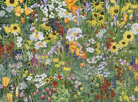 Wildflower Tapestry (506 Piece Wooden Jigsaw Puzzle)