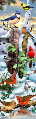 Winter Bird Gathering (125 Piece Wooden Jigsaw Puzzle)