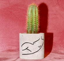 "Load image into Gallery viewer, ""Lydia"" Concrete Planter - GrungeVogue"
