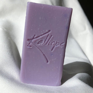 Jane, handmade soap with gentle lavender scent and rich shea butter