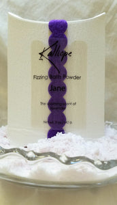 Jane fizzy bath powder combining lavender, jojoba oil and shea butter