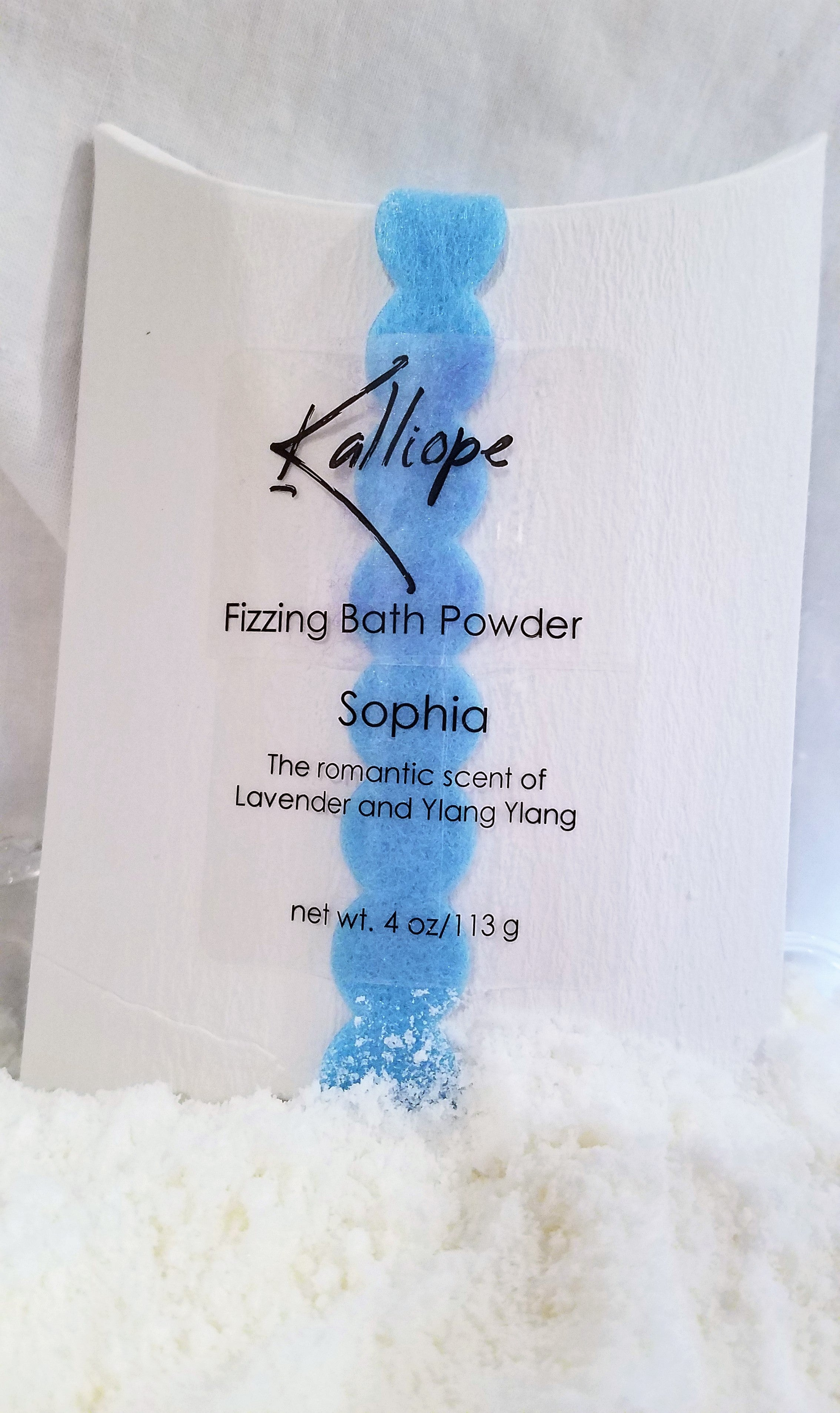 Sophia fizzy bath powder with jojoba oil and shea butter