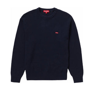 Supreme Textured Small Box Sweater Navy FW20