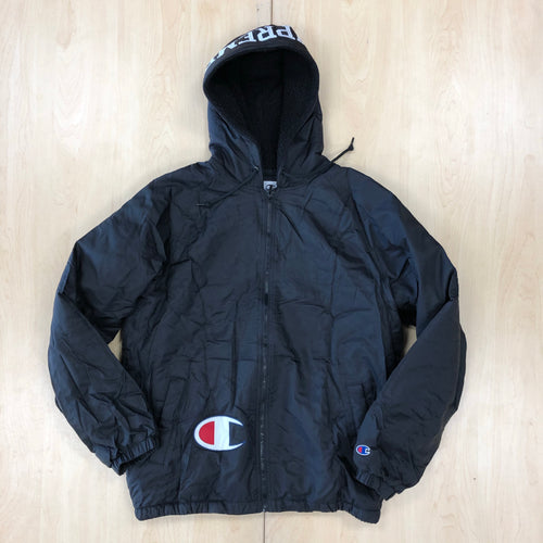 Supreme Champion Sherpa Lined Hooded Jacket Black FW17