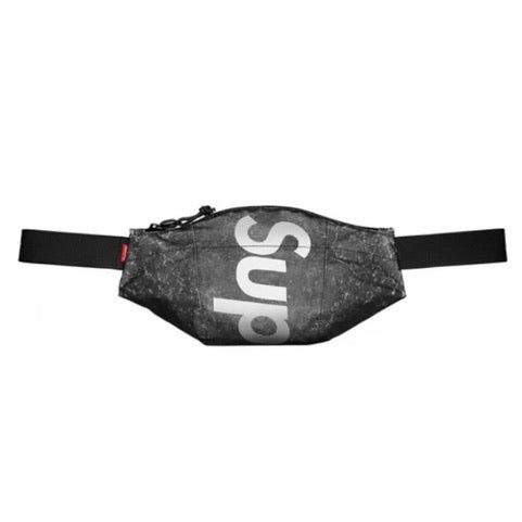 Supreme Waterproof Reflective Speckled Waist Bag Black FW20