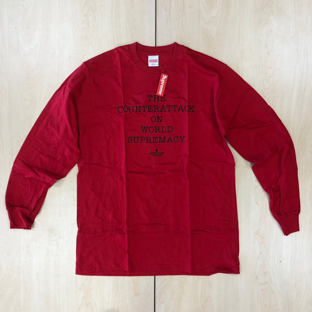 Supreme UNDERCOVER/Public Enemy Counterattack L/S Tee Red SS18