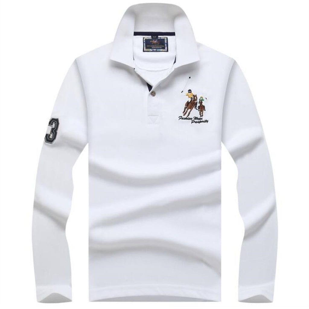 Big Pony Men's Long Sleeve Polo Shirts