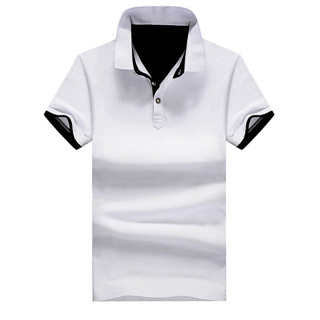 Contrast Placket Men's Polo Shirt