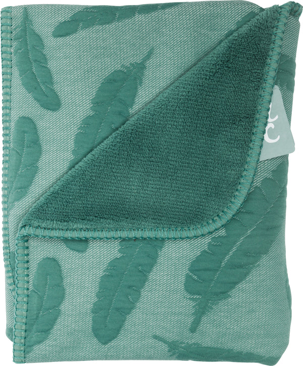 Wiegdeken feather dusty green teddy - Baby Anne-Cy