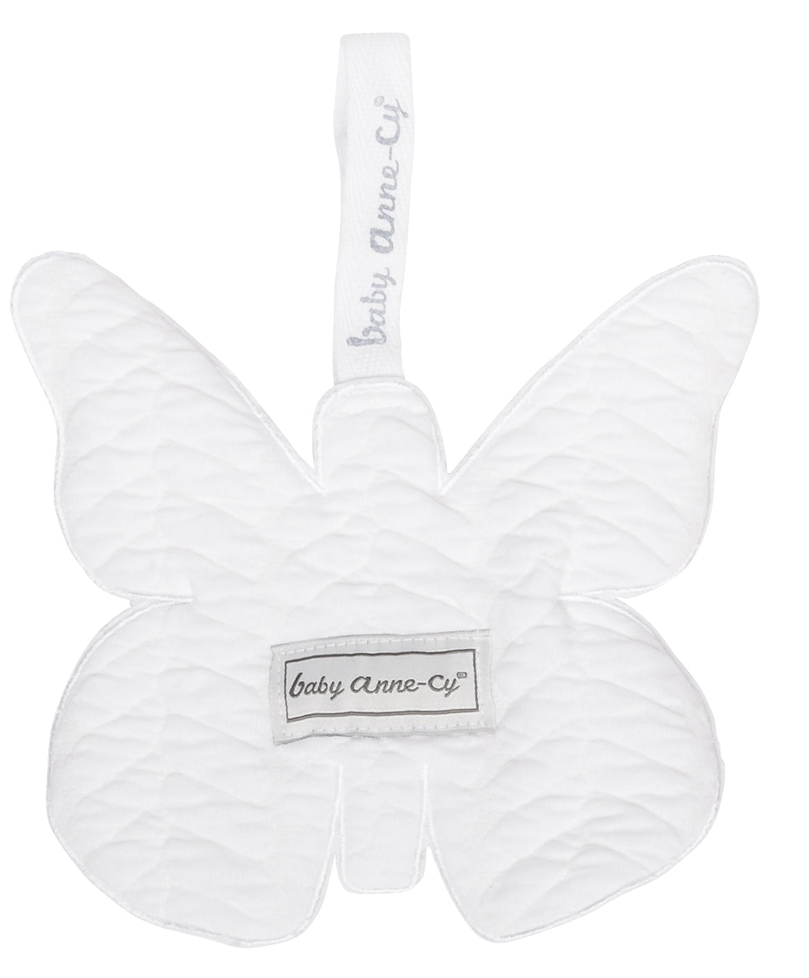 Speendoekje vlinder butterfly cable wit - Baby Anne-Cy