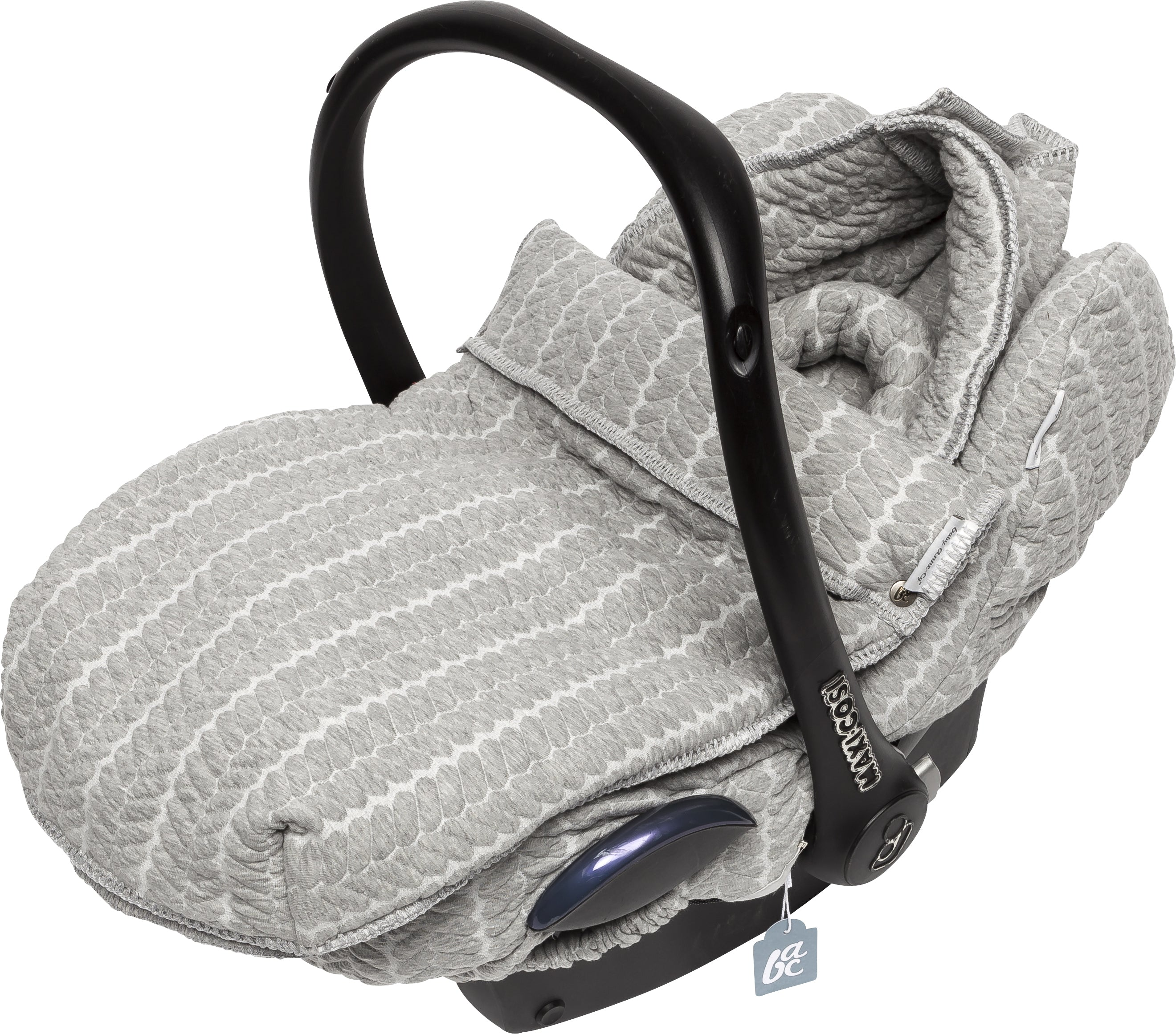 Autostoelhoes butterfly cable grey melange - Baby Anne-Cy