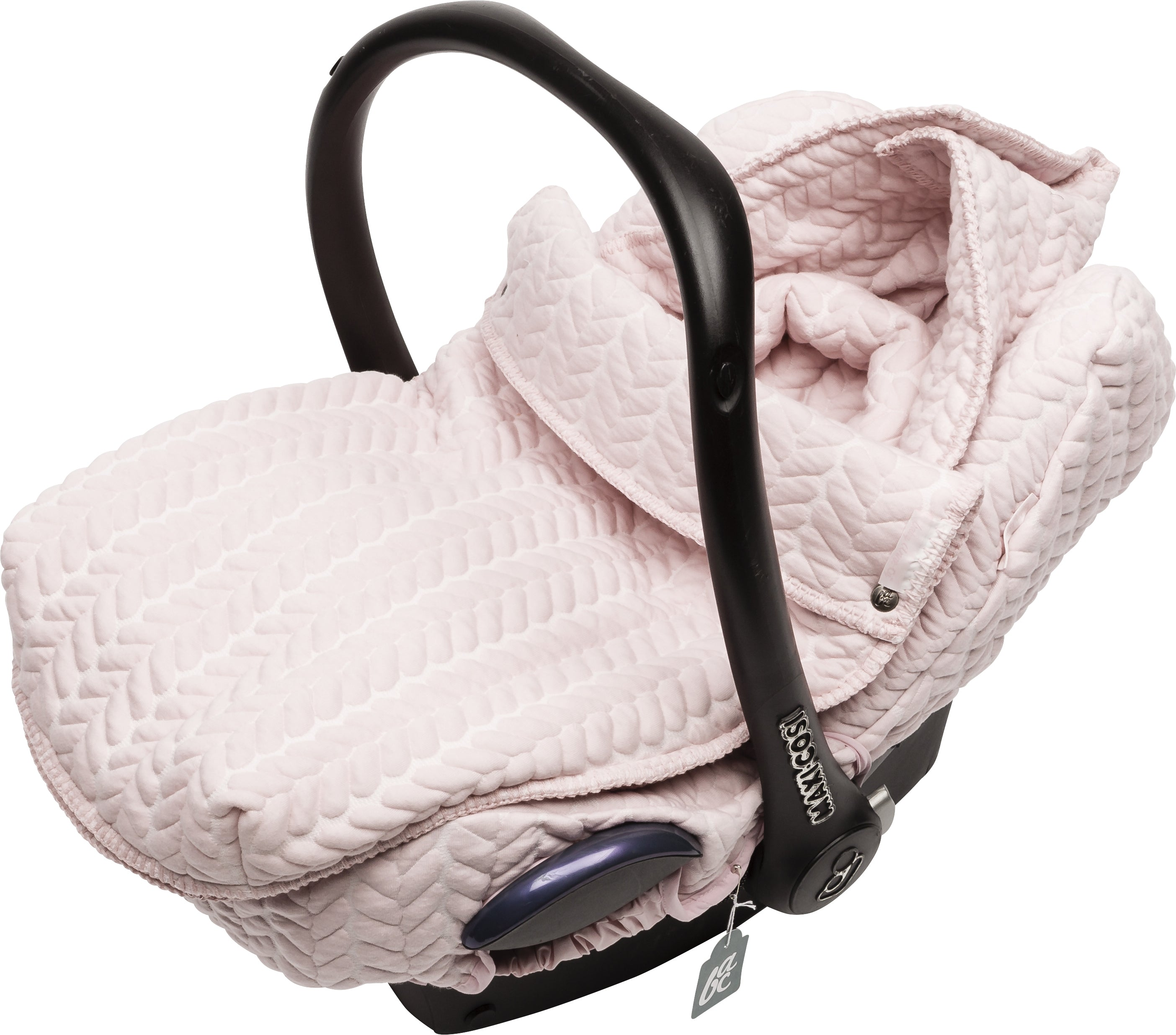 Autostoeltje hoes + voetenzak butterfly cable oud roze - Baby Anne-Cy