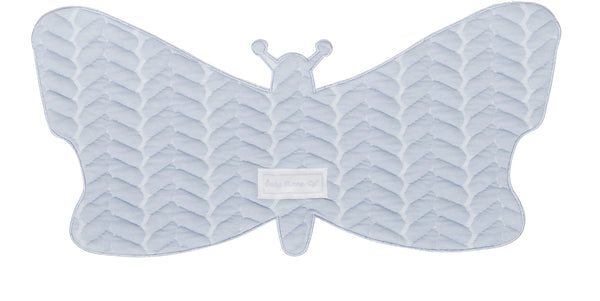 Spuugdoekje vlinder butterfly cable baby blue - Baby Anne-Cy