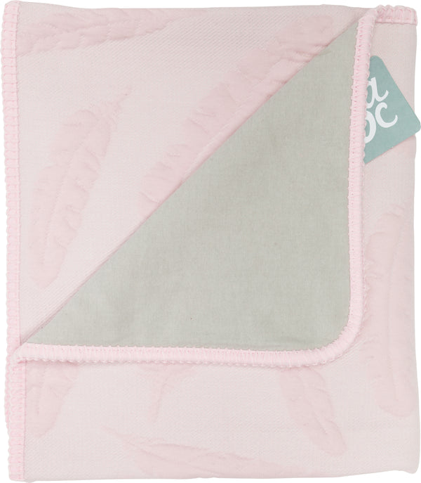 Ledikantdeken feather old pink flanel - Baby Anne-Cy