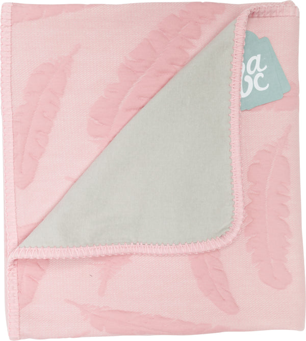 Ledikantdeken feather dusty pink flanel - Baby Anne-Cy