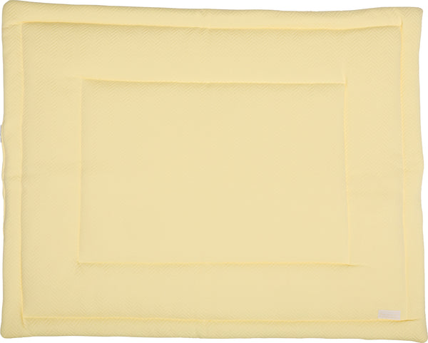 Boxkleed herringbone soft yellow - Baby Anne-Cy