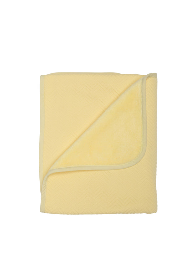 Ledikantdeken herringbone soft yellow - Baby Anne-Cy