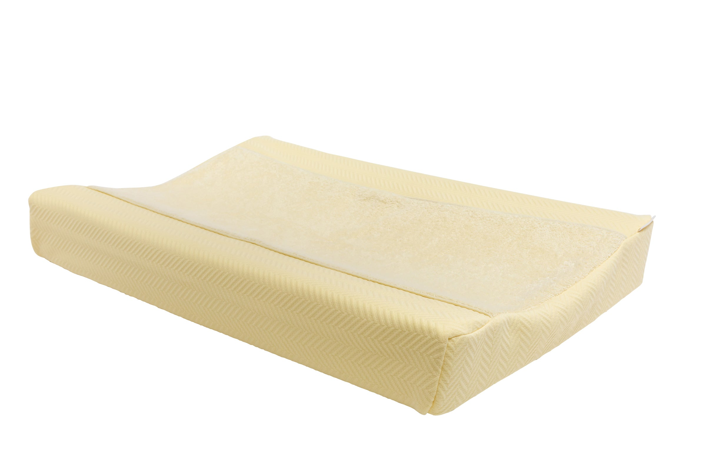 Aankleedkussenhoes herringbone soft yellow - Baby Anne-Cy