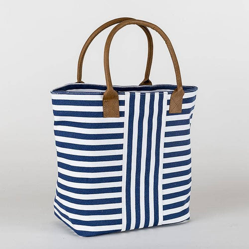ShoreBags - Cabana Totes - Navy Narrow Stripes