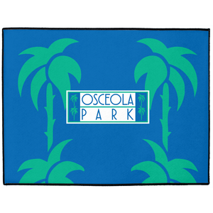 "Osceola Park Indoor/Outdoor Floor Mats 18"" x 24"" - MaisonBeach"