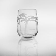 Palm Tree 17oz. Stemless Wine Glass-Set of 4