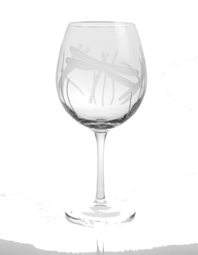 Dragonfly 18oz. Balloon Wine Glasses-Set of 4 - MaisonBeach