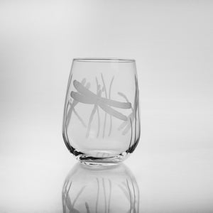 Dragonfly 17oz. Stemless Wine Glass-Set of 4 - MaisonBeach