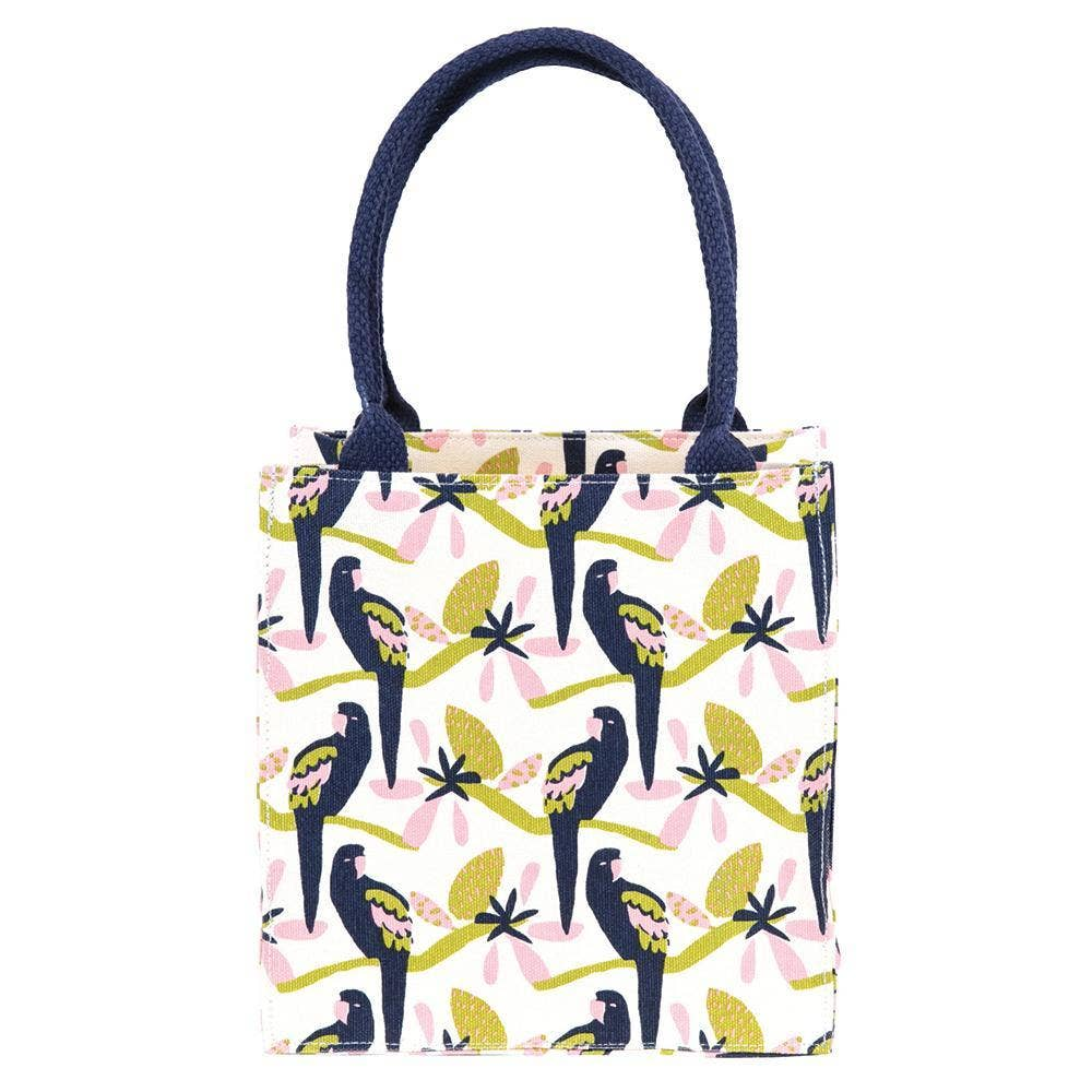 Tropical Parrot blu Itsy Bitsy Bag