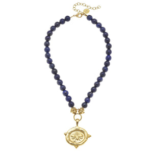 BLUE LAPIS BEE STONE NECKLACE - MaisonBeach